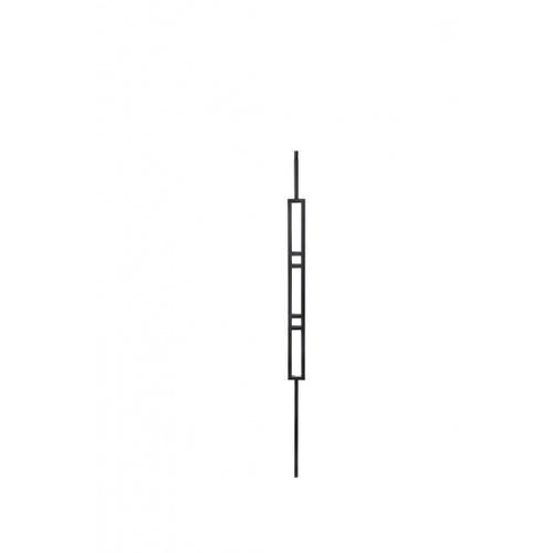 - เหล็กดัดซี่กรงระเบียงรูปสี่เหลี่ยม ขนาด 12.7x12.7mm. GB011