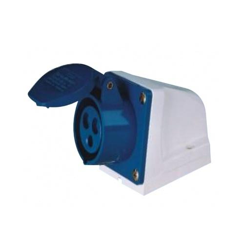 V.E.G ปลั๊กตัวเมียติดผนัง  RG-113 สีน้ำเงิน