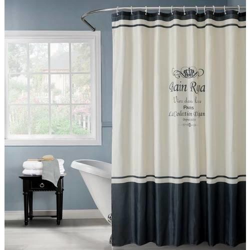 PRIMO ผ้าม่านห้องน้ำ (Polyester)   231338 ลาย มงกุฎ