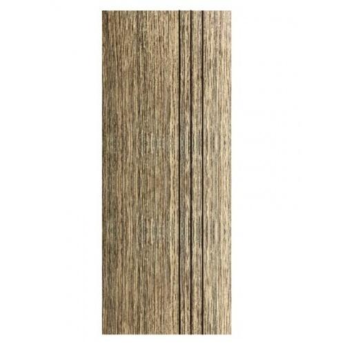 Wellingtan ประตู WPC บานทึบเซาะร่องดำ 80x200ซม. Brown Walnut (ไม่เจาะ) WPC-03