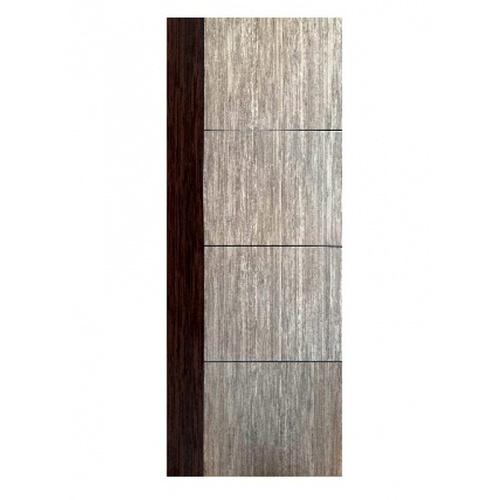 Wellingtan ประตู WPC บานทึบเซาะร่องดำ 80x200ซม. Black walnut & Brown Oak (ไม่เจาะ)  WPC-05