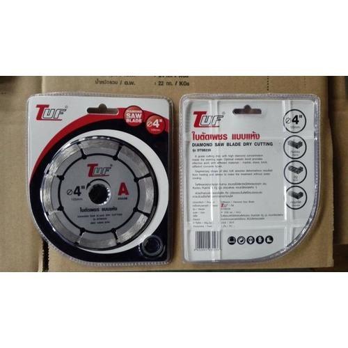 TUF ใบตัดเพชร แบบแห้ง DTSB238 4นิ้วx1.8x20-16mm เกรด A DTSB238 4