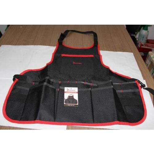 HUMMER กระเป๋าเครื่องมือช่างแบบเอี๊ยม JR-MY38 สีดำ-แดง