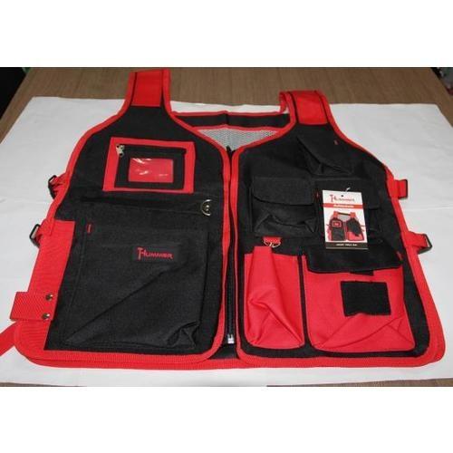 HUMMER electrician vest   JR-MY51 สีแดง-ดำ สีดำ
