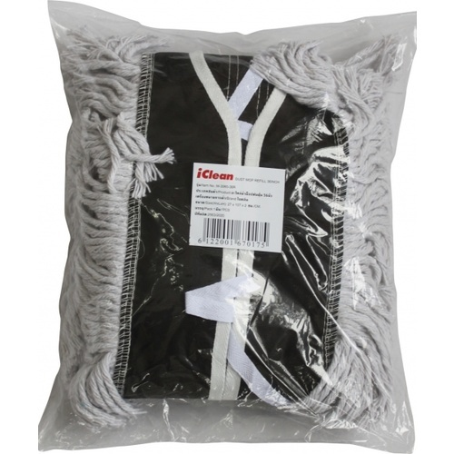 ICLEAN อะไหล่ผ้าม็อปดันฝุ่น 36นิ้ว M-3060-36R สีขาว