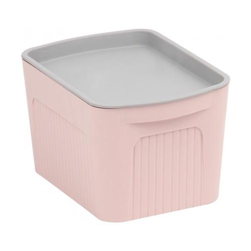 SAKU กล่องเก็บของพลาสติกมีฝา 2ลิตร ขนาด 21.5x13.6x9.5ซม.   TG51280