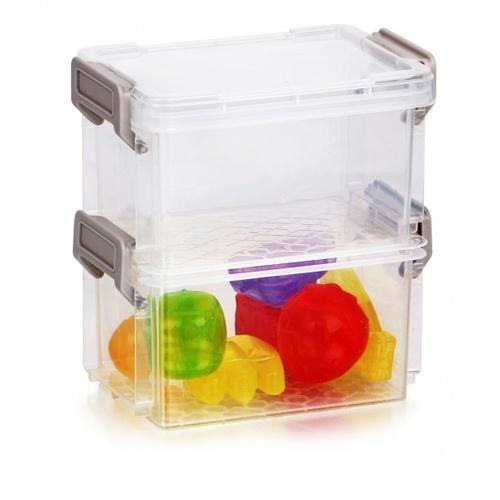 SMITH กล่องชั้นอเนกประสงค์ 2 ชั้น ขนาด 12.2x8.2x12.6ซม. TG54866 สีใส