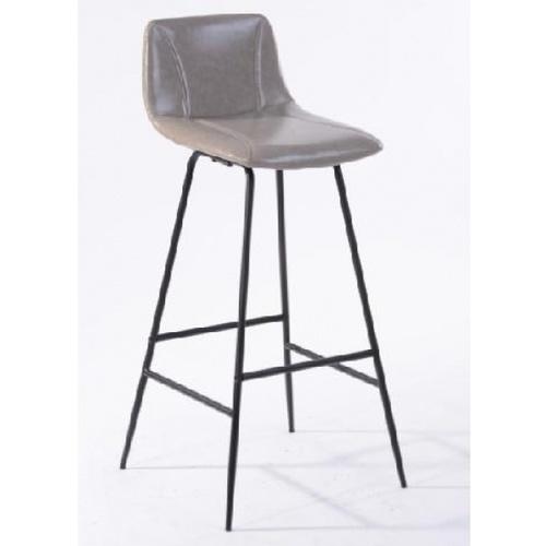 Pulito เก้าอี้บาร์สตูลหนัง  Neto PU สีเทา