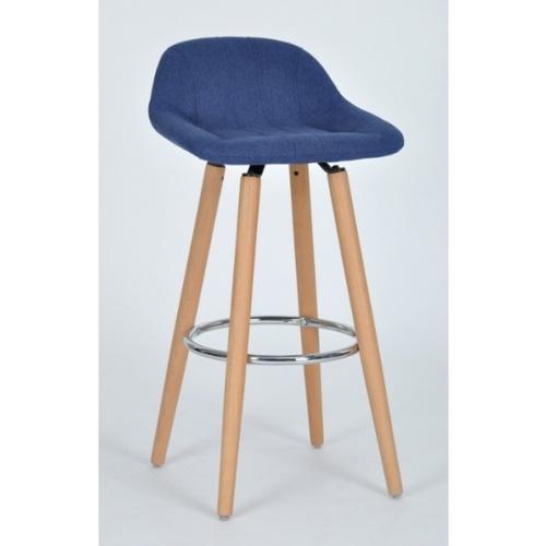 Pulito เก้าอี้บาร์สตูลผ้า  Arenas สีน้ำเงิน