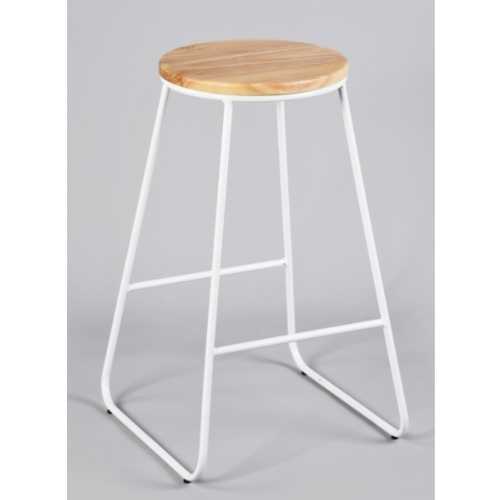 Delicato เก้าอี้บาร์สตูล  Morag Rubber สีธรรมชาติ