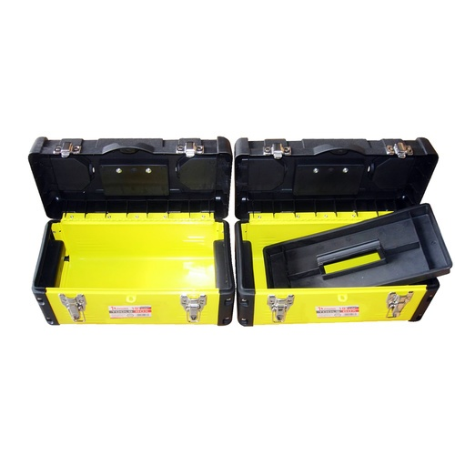 HUMMER กล่องเครื่องมือสีเหลืองขนาด 19นิ้ว  รุ่น JW-7019   สีเหลือง