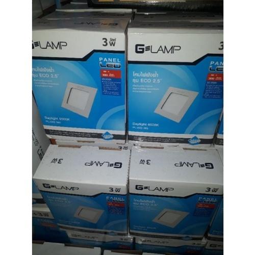 G-LAMP ดาวน์ไลท์ LED (panel) เหลี่ยม 3w Daylight  ECO 2.5