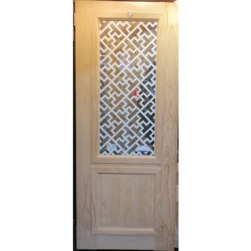 D2D ประตูไม้สนนิวซีแลนด์ ขนาด90x220cm. 602