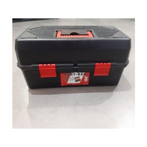 "PORT-BAG กล่องเครื่องมือช่าง PR 05 20"" (มีชั้นด้านใน) สีดำ"