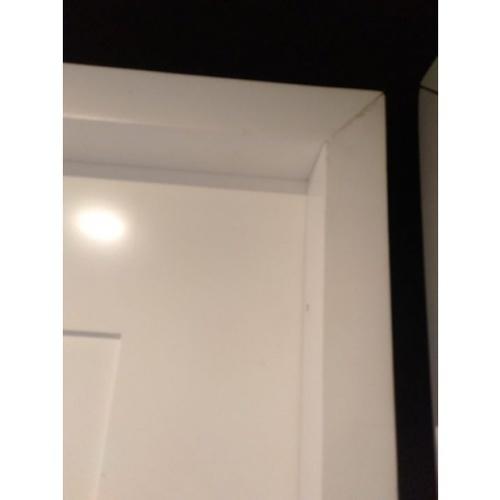 MJ วงกบประตูไม้จริง ขนาด 80x200 ซม.  FR80-WH สีขาว