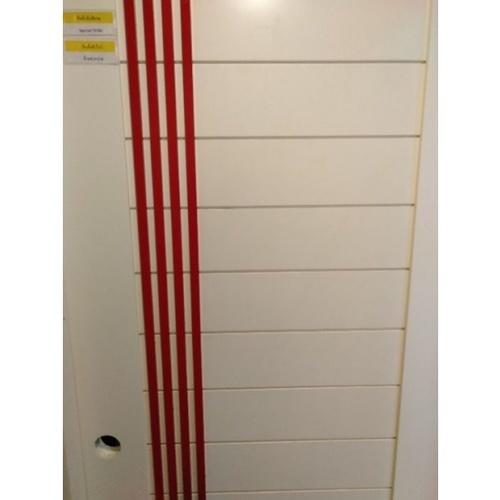MJ ประตูไม้จริงทำสี ขนาด 80x200 cm. B80-WH/RED สีขาว