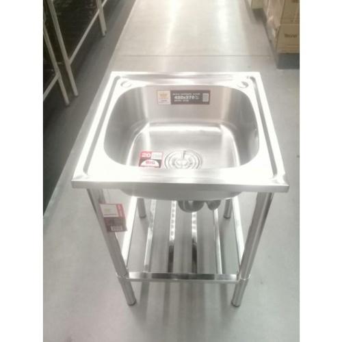 - ชุดเซ็ทอ่างล้างจาน 1 หลุม ไม่มีที่พัก พร้อมขาตั้งขนาด 50ซม. WS5050-NA/WSF5050-ST (B)**แถมฟรี 8855090028791 ของแถม -CROWN  ก๊อกอ่างล้างจานเคาน์เตอร์ **