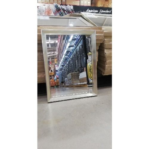 - กระจกเงากรอบ   ขนาด 52X67 ซม. DMV-4560 สีเงิน