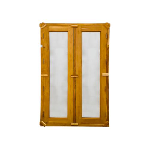 SJK ชุดหน้าต่างไม้สักสำเร็จรูป 2 บาน  45x165cm. SJK003