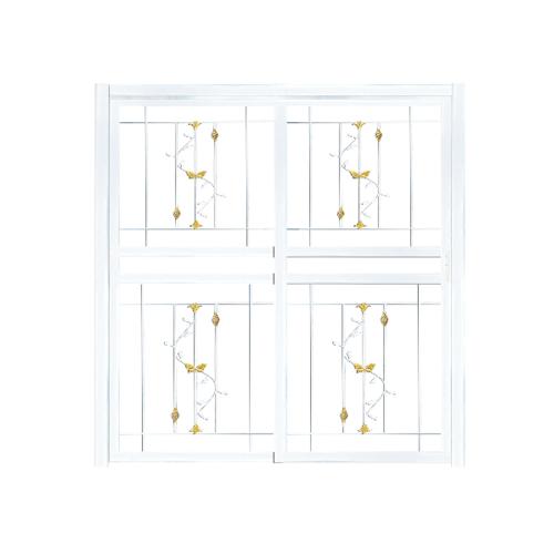 A-Plus ประตูเหล็กดัดลายตระกร้อเหล็กตัน ขนาด 2.00x2.05 m.ติดใน D 1006