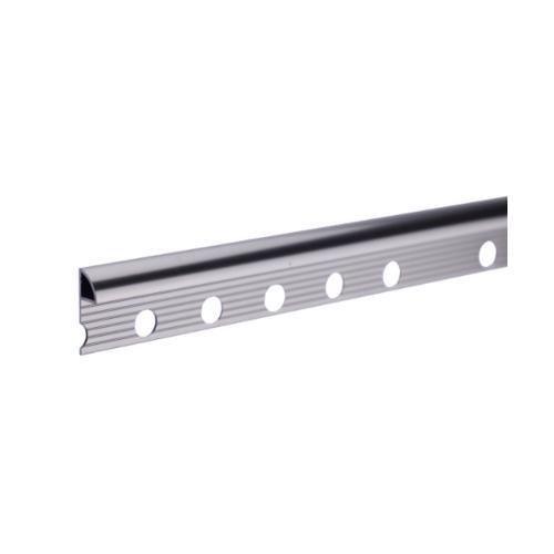MAC คิ้วอลูมิเนียมแบบโค้ง 8 มม. ยาว 2 เมตร.  HY-001 Bright Silver