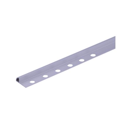 MAC คิ้วอลูมิเนียมแบบโค้ง 12 มม. ยาว 2 เมตร.  HY-006 Matt Silver