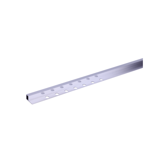 MAC คิ้วอลูมิเนียมแบบเหลี่ยม 10 มม. ยาว 2 เมตร.  HY-009 Bright Silver