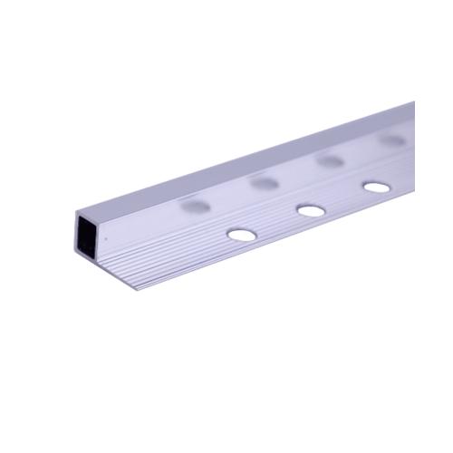 MAC คิ้วอลูมิเนียมแบบเหลี่ยม 12 มม. ยาว 2 เมตร.   HY-012 Matt Silver