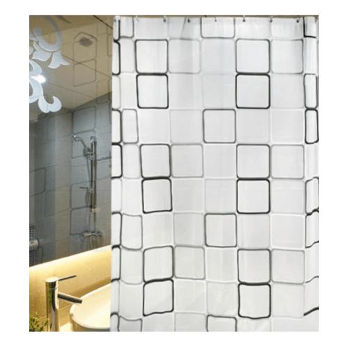PRIMO ผ้าม่านห้องน้ำ PEVA ลายกราฟฟิก ขนาด 180x180ซม. DF012