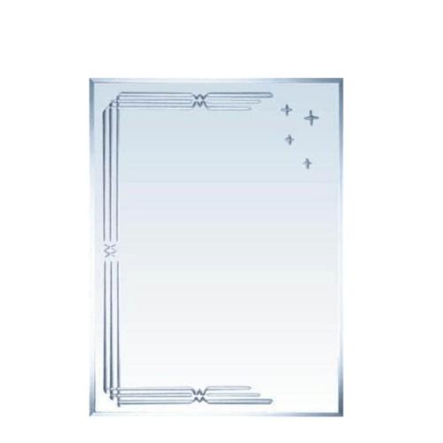 NICE กระจกเงาทรงเหลี่ยม ขนาด 45x60ซม.  PQS-XS6045L