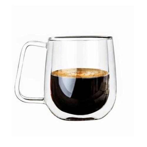 AILO แก้วใสสองชั้นมีหู 250ML. GXY006