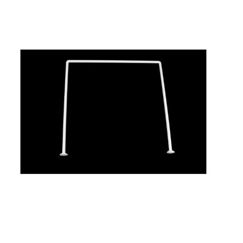 PRIMO ราวม่านห้องน้ำอลูมิเนียม ตัว U ขนาด 90x90x90ซม.  PQS-CB06-3 สีขาว