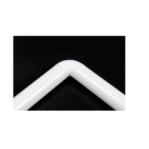LUXUS ราวม่านห้องน้ำอลูมิเนียม ตัว L ขนาด 90x90ซม.  PQS-CB06-7 สีขาว