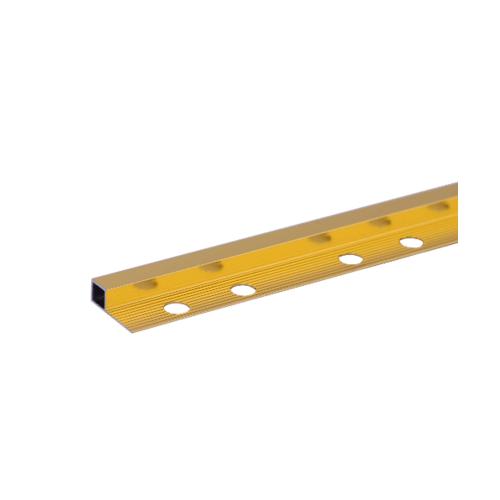 MAC คิ้วอลูมิเนียมแบบเหลี่ยม 10 มม. ยาว 2 เมตร  DAT039 Gold สีทอง