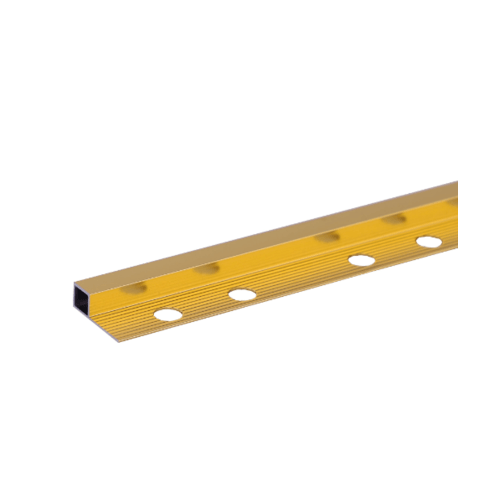 MAC คิ้วอลูมิเนียมแบบเหลี่ยม  12 มม. ยาว 2 เมตร  DAT024  สีทอง