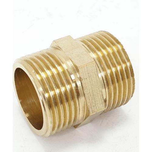 VAVO ข้อต่อตรงทองเหลือง ผผ YF-5001  1/2นิ้ว