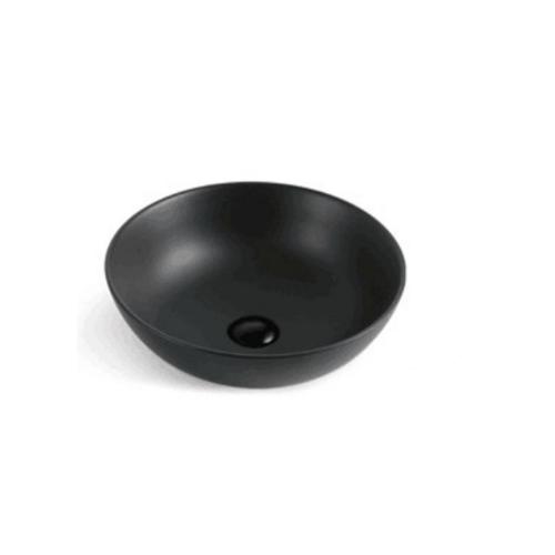 VERNO อ่างล้างหน้าวางบนเคาเตอร์ เมแกน สีดำแมท VN-601C-YA