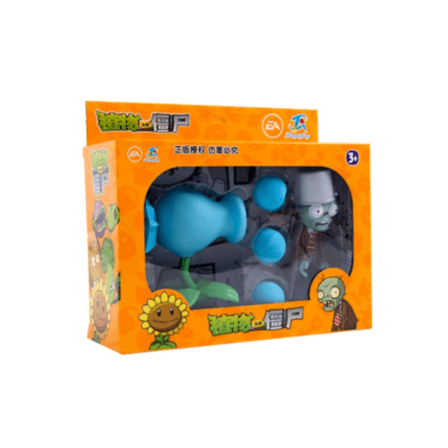 Sanook&Toys  กล่องของขวัญPlants vs. Zombies  7.5*20.5*15.5cm 668-8 สีฟ้า