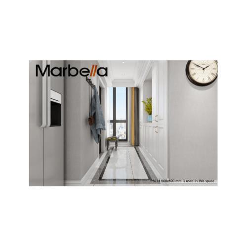 Marbella 60x60 เลกเซ-ไลท์เกรย์ (4P) A P6014  สีขาว