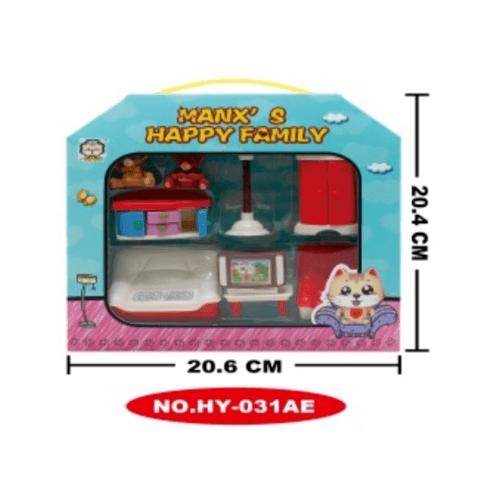 Sanook&Toys  ของเล่นชุดห้องนั่งเล่น  HY-031AE สีแดง