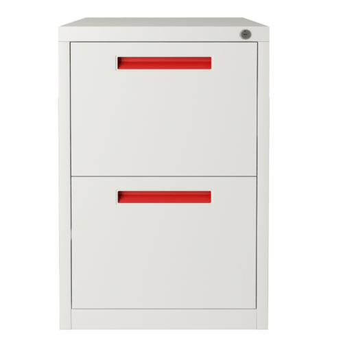 ULA ตู้ลิ้นชักเก็บเอกสาร 2 ชั้น 45.2x62x73.1ซม.  BDL10 ขาว-ส้ม
