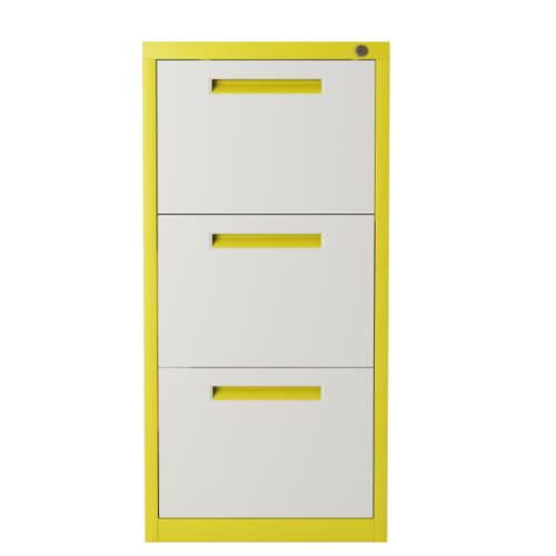 ULA ตู้ลิ้นชักเก็บเอกสาร 3 ชั้น 45.2x62x103.1ซม.  BDL11 ขาว-เหลือง