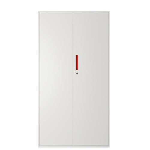 ULA ตู้เก็บเอกสารแบบทึบบานเปิด 90x40x185ซม.  BDL13 ขาว-ส้ม