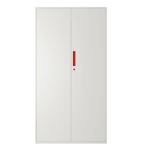 ULA ตู้เก็บเอกสารแบบทึบบานเลื่อน ขนาด 90x40x185ซม.  BDL13  สีขาว-ส้ม