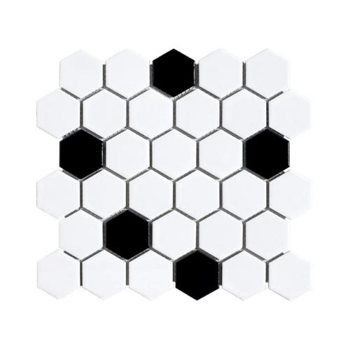 Marbella  โมเสค 30x30x0.6cm  มาร์ก๊อต C0303TC ขาว-ดำ