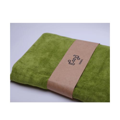 COZY ผ้าขนหนูไมโครไฟเบอร์ 70x140ซม. BQ016-OLI สีเขียว