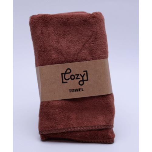 COZY ผ้าขนหนูไมโครไฟเบอร์ 30x70ซม. BQ015-BN สีน้ำตาล