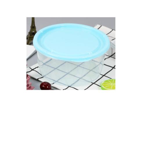 GOME  กล่องอาหารพลาสติกทรงกลม  1100ML. ขนาด 16x16x8 ซม. SP0023-BU สีฟ้า