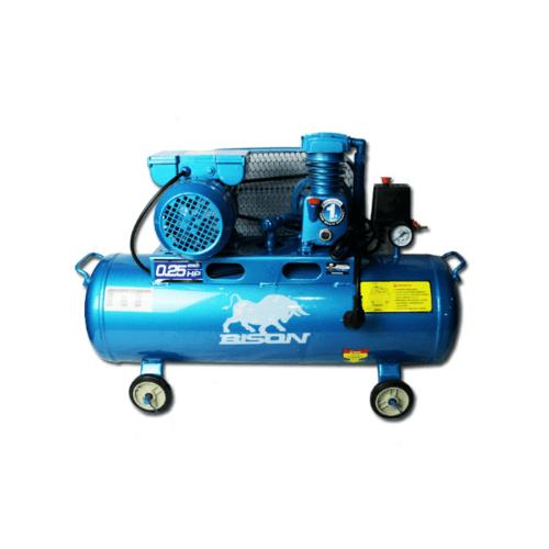 BISON ปั๊มลมลูกสูบ 1/4 HP 36 ลิตร LAZ-0.036/10 สีฟ้าเข้ม