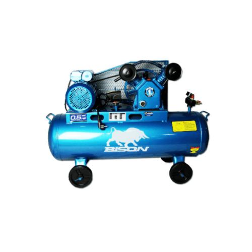 BISON ปั๊มลมลูกสูบ 1/2 HP 64 ลิตร LAV-0.17/10 สีน้ำเงิน